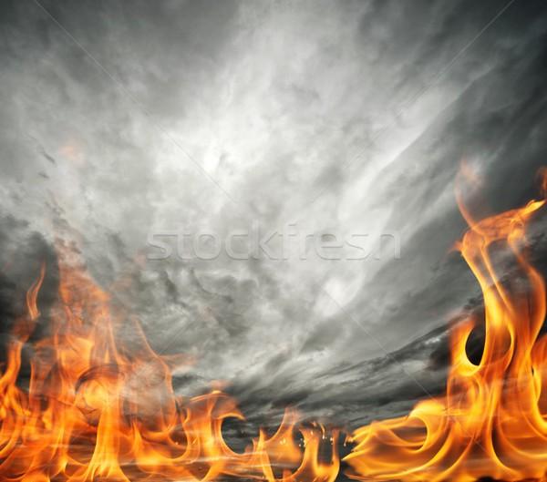 Как сделать огонь в небе 106