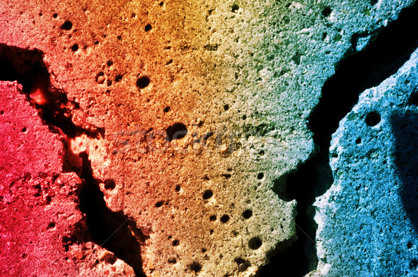 Abstract texture of a colorful contrete wall Stock photo © Nejron