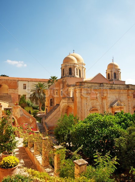 Beautiful monastery of agia triada Stock photo © Nejron