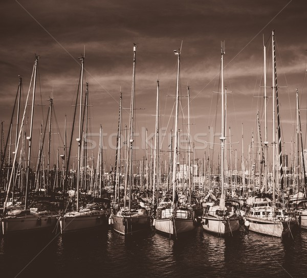 Yachts and boats in harbour Stock photo © Nejron