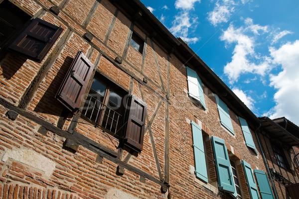 красный кирпичных здании фасад жалюзи Сток-фото © Nejron