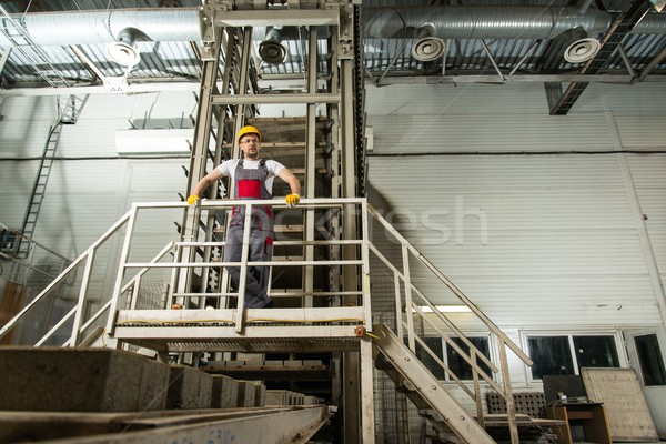Man in a safety hat on a factory   Stock photo © Nejron