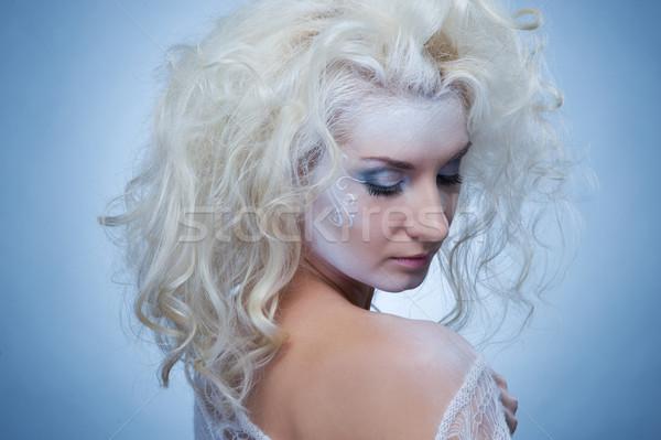 Pensando neve rainha menina beleza inverno Foto stock © Nejron