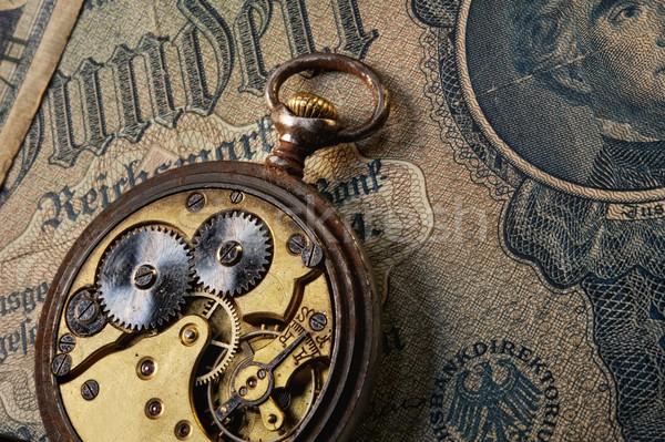 Az idő pénz pénz papír absztrakt terv háttér Stock fotó © Nejron