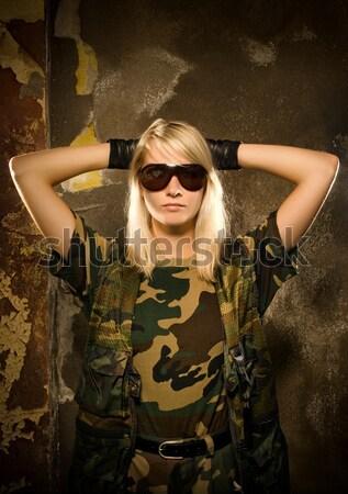 美人 レトロな 肖像 女性 壁 ファッション ストックフォト © Nejron