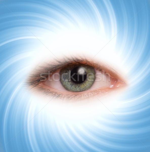 Menselijke oog Blauw abstract ontwerp technologie Stockfoto © Nejron