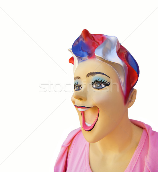 Funny mannequin with open mouth Stock photo © Nejron