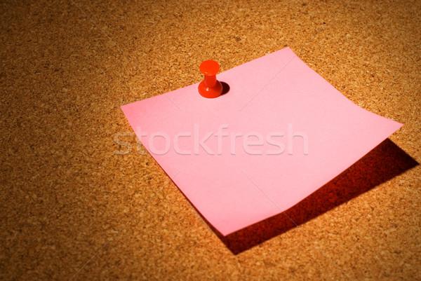 Figyelmeztetés parafa tábla iroda munka fény háttér Stock fotó © Nejron