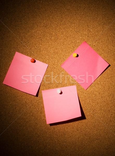 Photo stock: Rose · papiers · bureau · travaux · lumière · fond