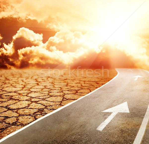 шоссе ад пустыне небе дороги фон Сток-фото © Nejron
