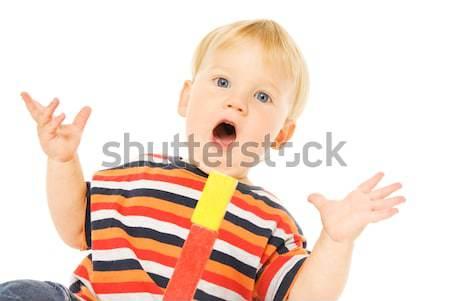Сток-фото: красивой · молодые · ребенка · играет · интеллектуальный · игры