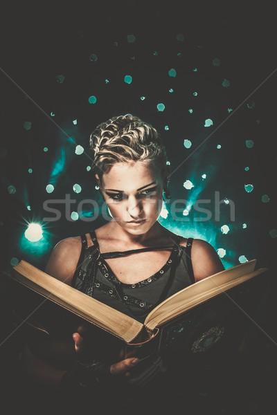 стимпанк девушки книга стены промышленных панк Сток-фото © Nejron