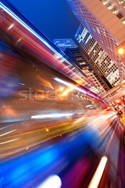 Fast moving bus at night  Stock photo © Nejron