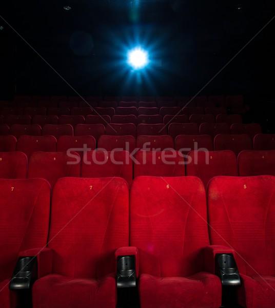 Lege comfortabel Rood nummers bioscoop licht Stockfoto © Nejron