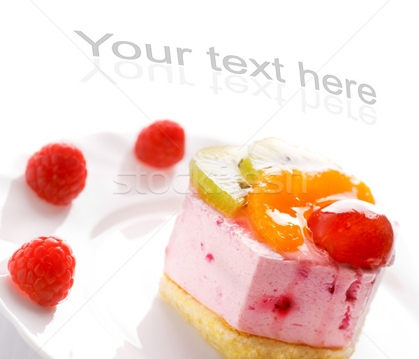 Tasty low-carorie fruit cake isolated on white background Stock photo © Nejron