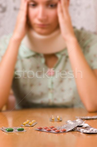 Sickness (focus on pills) Stock photo © Nejron