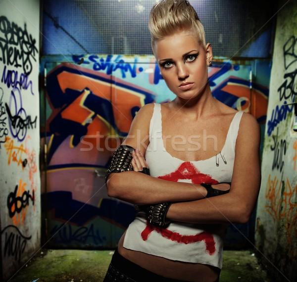 Graffiti painted gateway Stock photo © Nejron