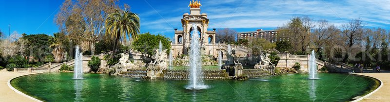 Панорама фонтан Барселона город строительство Сток-фото © Nejron