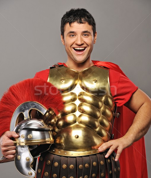Laughing legionary soldier Stock photo © Nejron