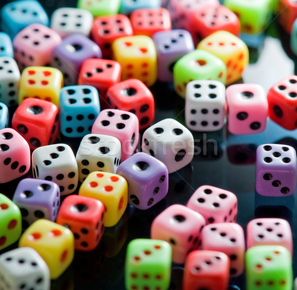 Colorful dices background Stock photo © Nejron