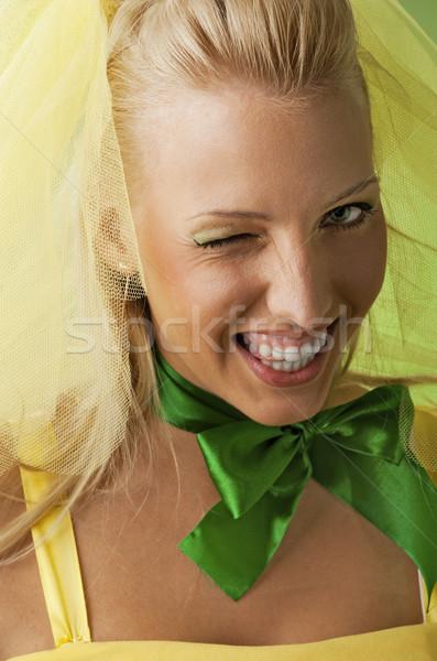 Portrait of a funny bride Stock photo © Nejron