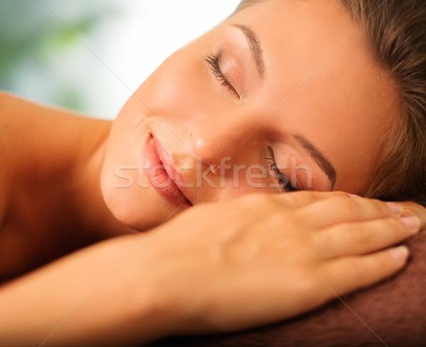 Hermosa relajante spa salón mujer Foto stock © Nejron