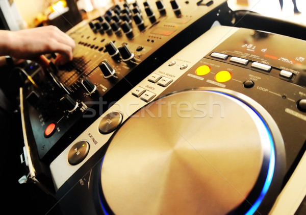 Mixer Party Radio Sound menschlichen Audio Stock foto © Nejron