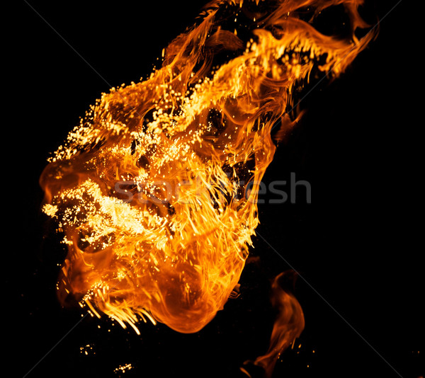 огня взрыв изолированный черный текстуры аннотация Сток-фото © Nejron