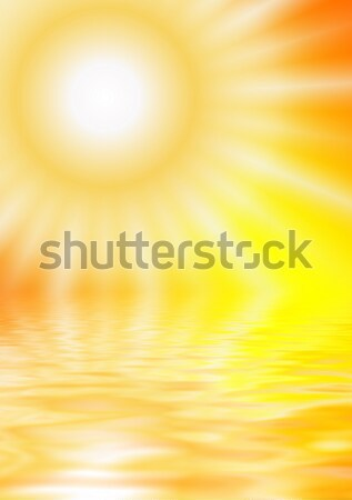 Sun reflected in water Stock photo © Nejron