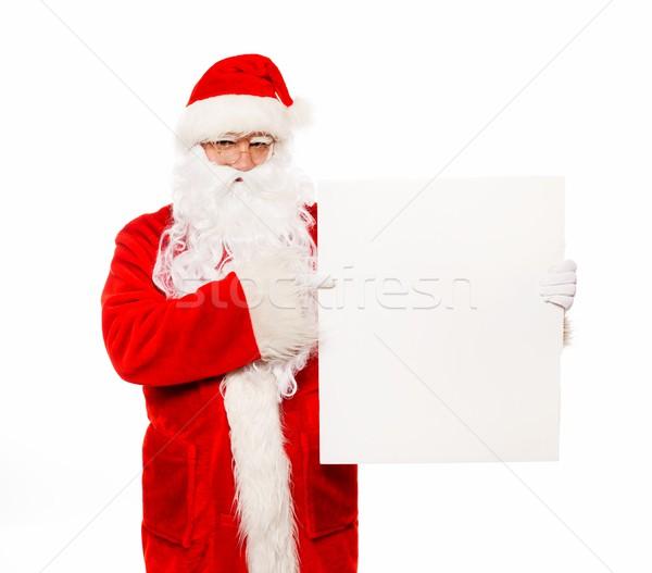 Papai noel quadro de avisos cara homem inverno vermelho Foto stock © Nejron