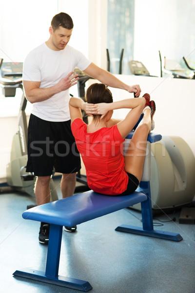 Personale fitness addominale esercizio Foto d'archivio © Nejron