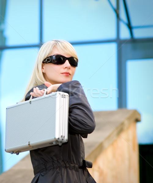 美しい 若い女性 銀 場合 現代 オフィス ストックフォト © Nejron