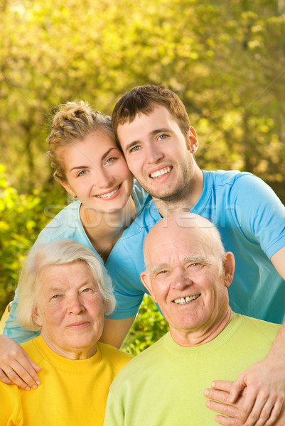 Young couple and their grandparents outdoors Stock photo © Nejron