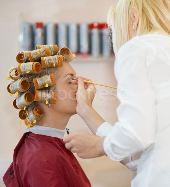 若い女性 ビューティーサロン 女性 ファッション 作業 モデル ストックフォト © Nejron