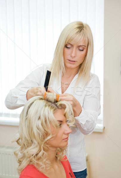 Young woman in beauty salon Stock photo © Nejron