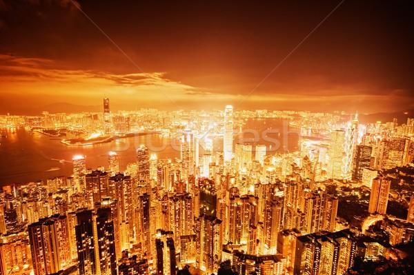 Hong Kong downtown at night  Stock photo © Nejron