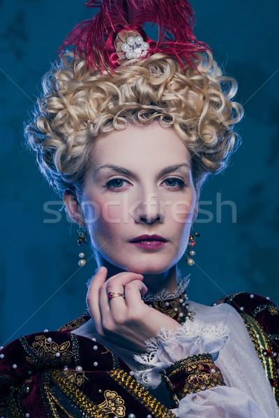 Portré gyönyörű királynő erő ruházat stílus Stock fotó © Nejron