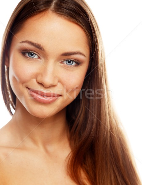 Young positive brunette girl with beautiful smile  Stock photo © Nejron