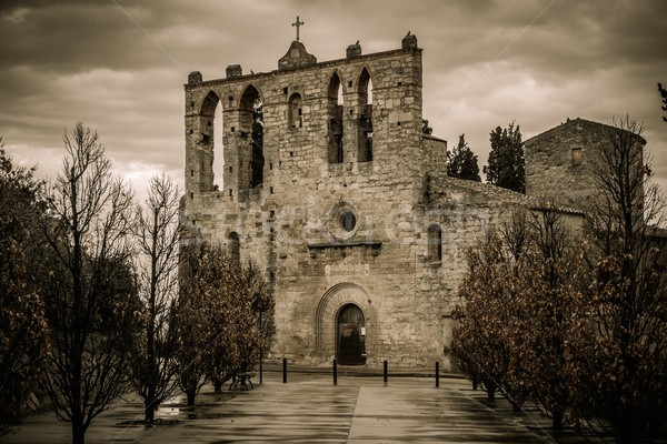 Church in Peratallada town, Costa Brava, Spain Stock photo © Nejron
