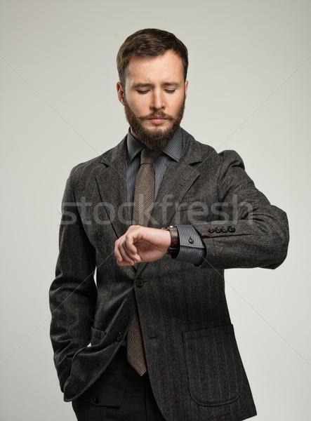 ハンサム 男 あごひげ 見える ファッション ストックフォト © Nejron
