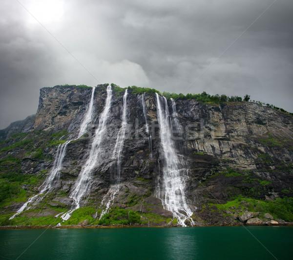 известный семь водопада трава горные Сток-фото © Nejron