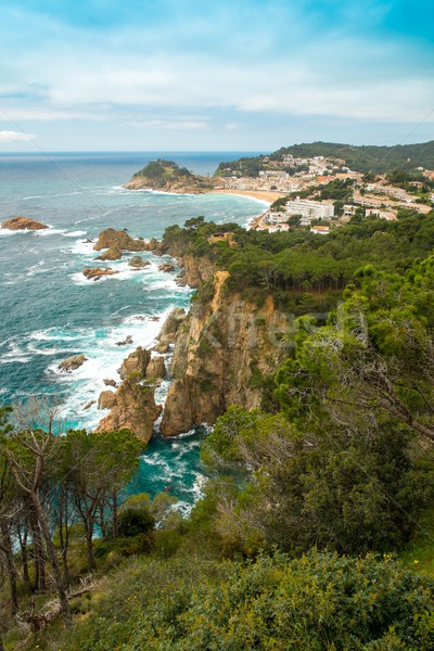 View over Tossa de Mar town on Costa Brava, Spain Stock photo © Nejron