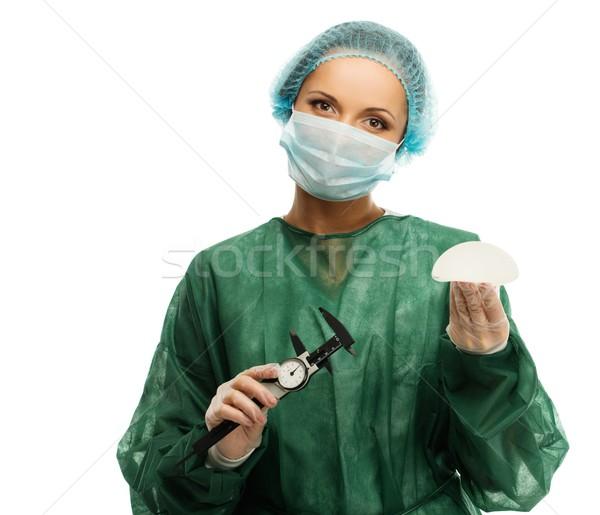 プラスチック 外科医 女性 シリコン 乳がん 手 ストックフォト © Nejron