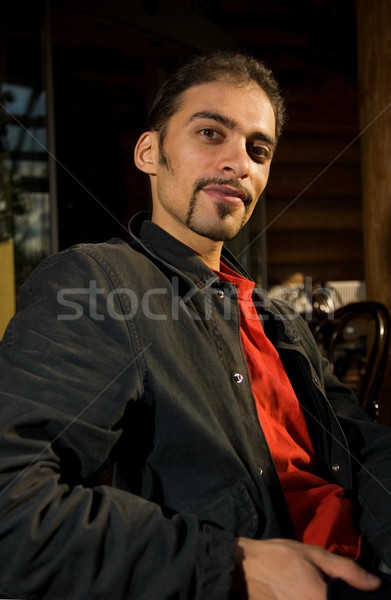 Stock photo: Handsome stylish guy with nice imperial beard