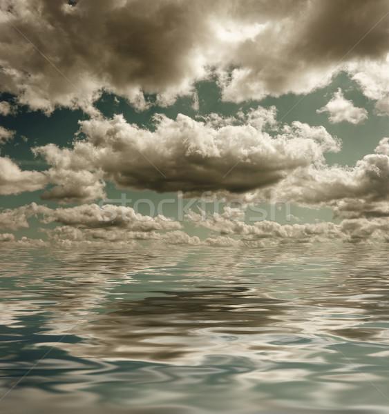 Donkere stormachtig wolken textuur abstract natuur Stockfoto © Nejron
