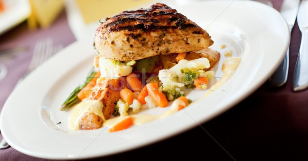 Tasty food on a table Stock photo © Nejron
