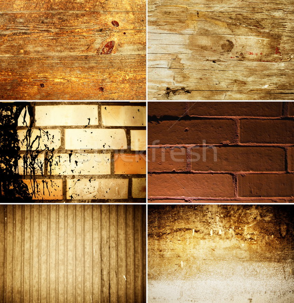 Grunge texture set Stock photo © Nejron