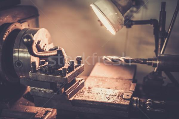 Lathe machine in a workshop Stock photo © Nejron