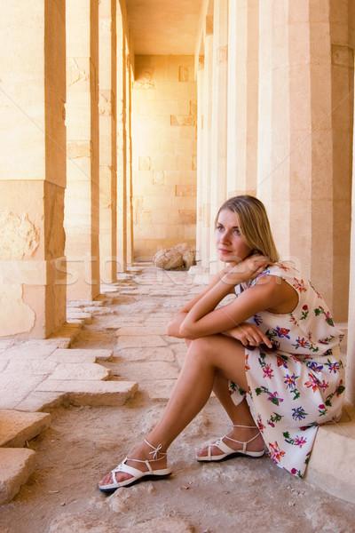 説明 少女 女性 太陽 モデル ストックフォト © Nejron