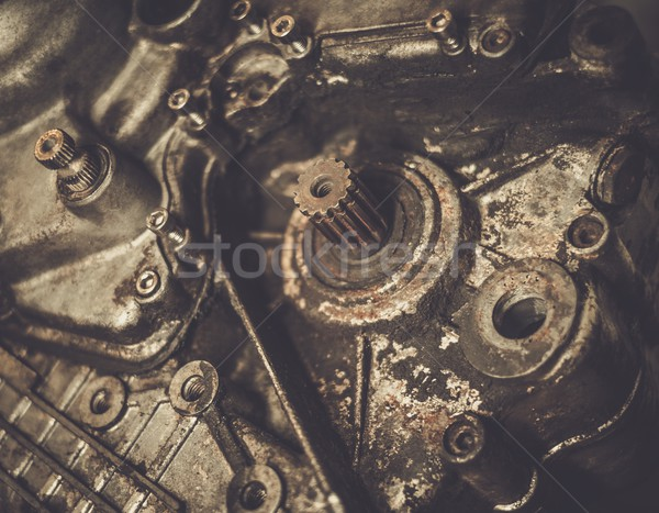 Close-up of an old motorcycle  engine  Stock photo © Nejron